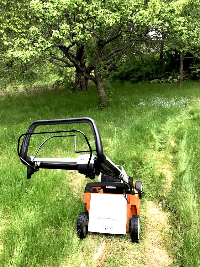 Gräsklippare som går på batteri