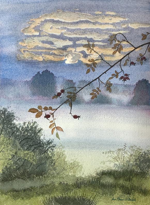 Tavla, akvarell, God was here