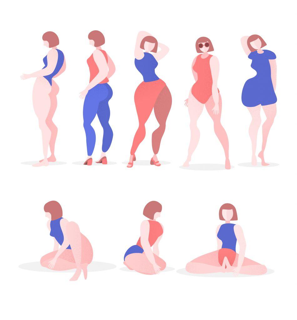 Dame Positurer illustrasjon mennesker yoga