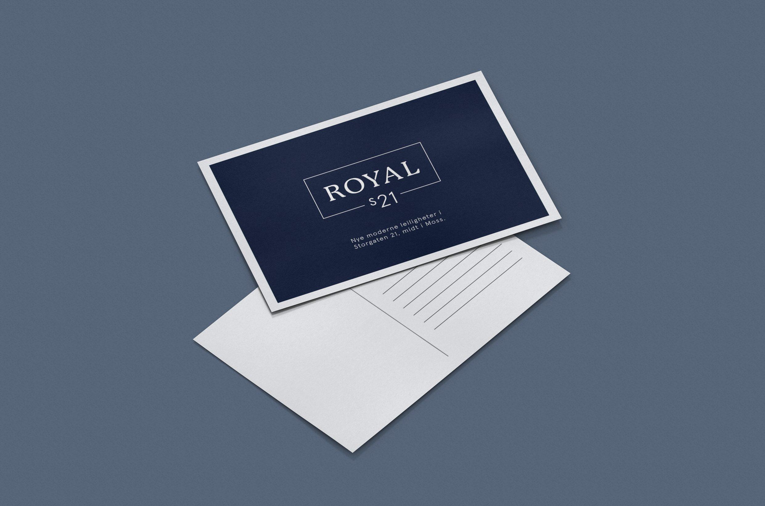 Royal S21 boligprosjekt nybygg eiendom logo grafisk profil identitet eksklusivt Moss