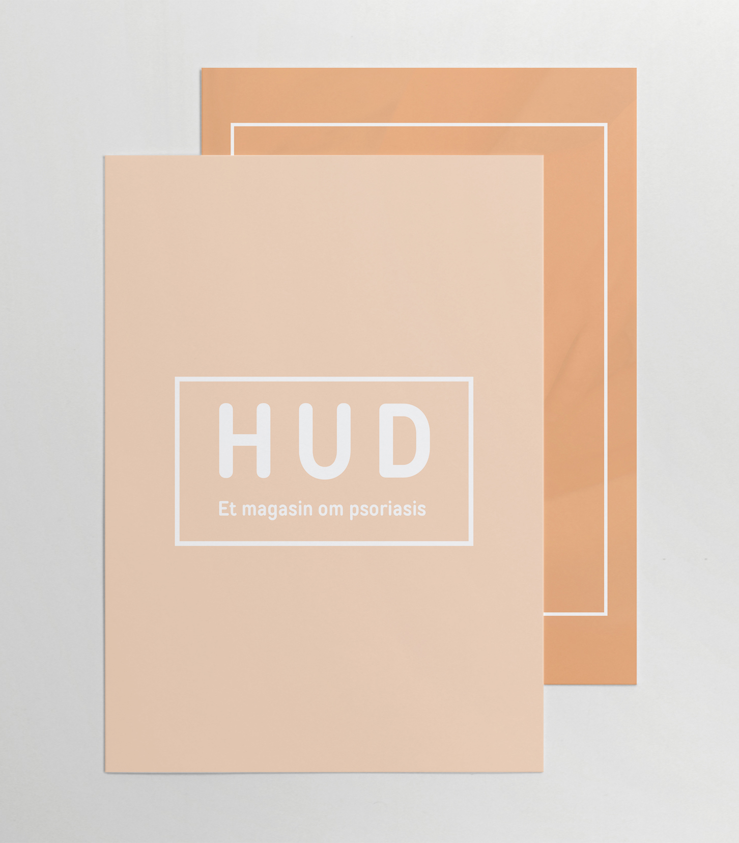 Hud magasin om psoriasis layout og design
