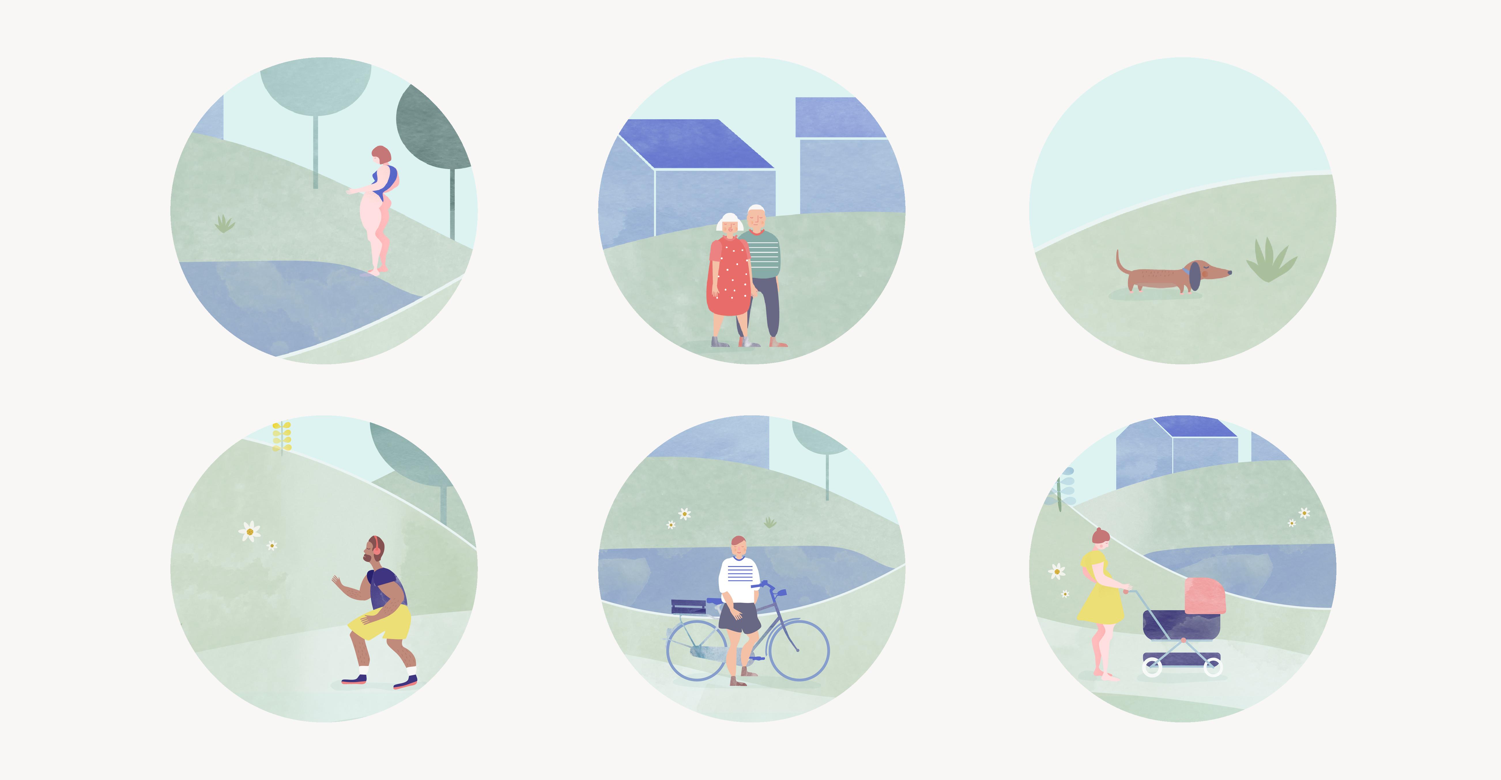 Psykologen Innstrand | psykologi illustrasjon | helse | visuell identitet | logo