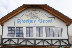 Fischer Vroni, Aufbau Oktoberfest auf der Theresienwiese in München 2018