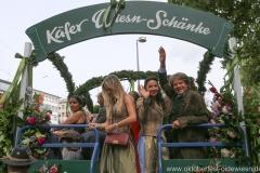 Clarissa und Michael Käfer (re.),Einzug der Wiesnwirte am Oktoberfest in München 2018