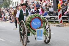 Einzug der Wiesnwirte am Oktoberfest in München 2018