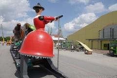 Oktoberfest Baustellenführung auf der Theresienwiese in München 2019