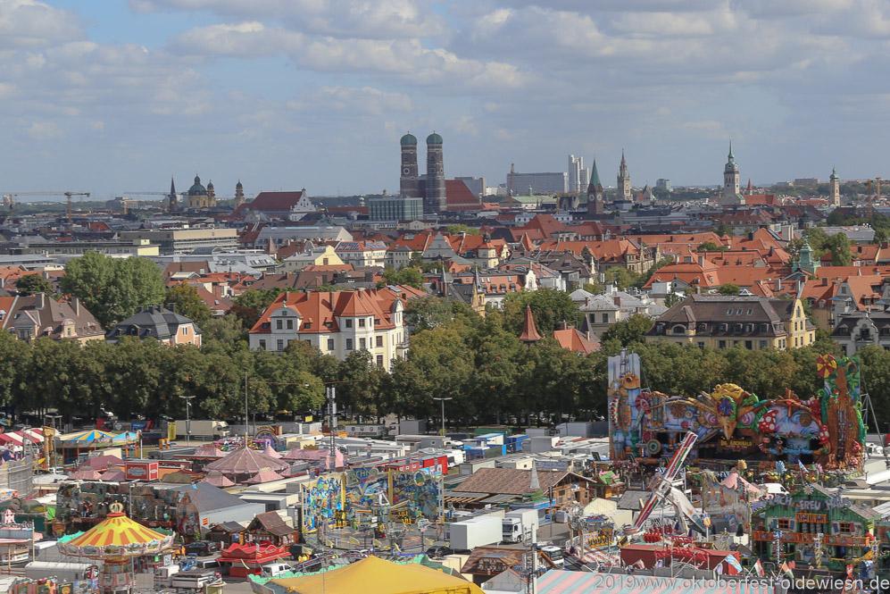 Oktoberfest Presserundgang über die Theresienwiese in München  2019