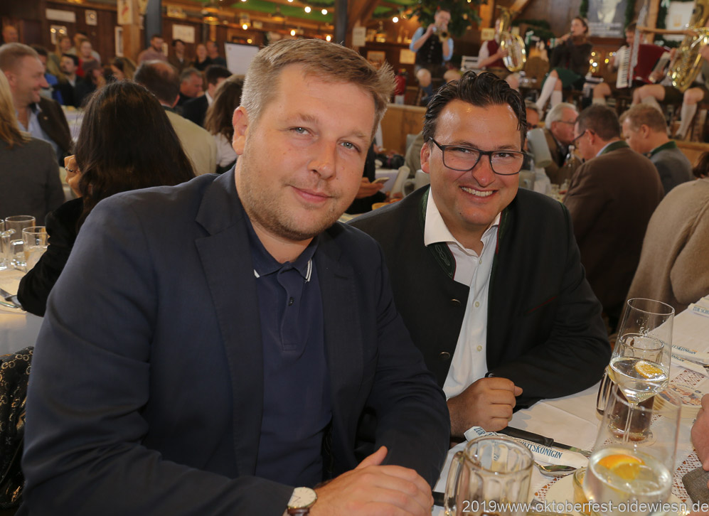 Jens Röver (li.), Oktoberfest Presserundgang über die Theresienwiese in München  2019