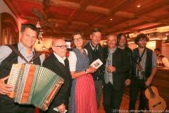 Bernhard Gruber, Jürgen Kirner, Gerda Reichert,  Peter Reichert,  Dr. Michael Möller, Roland Hefter, Berni Filser ( von li.  nach re.), PK Schönheitskönigin im Seehof in Herrsching 2019
