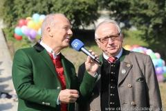 Michael Harles und Toni Roiderer (re.), Wiesn Platzkonzert mit allen Wiesnkapellen unter der Bavaria am Oktoberfest in München 2018