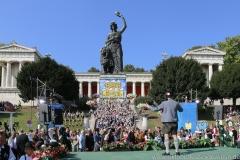 Hans Spindler, Wiesn Platzkonzert mit allen Wiesnkapellen unter der Bavaria am Oktoberfest in München 2018