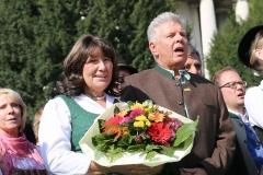 Petra und Dieter Reiter, Wiesn Platzkonzert mit allen Wiesnkapellen unter der Bavaria am Oktoberfest in München 2018