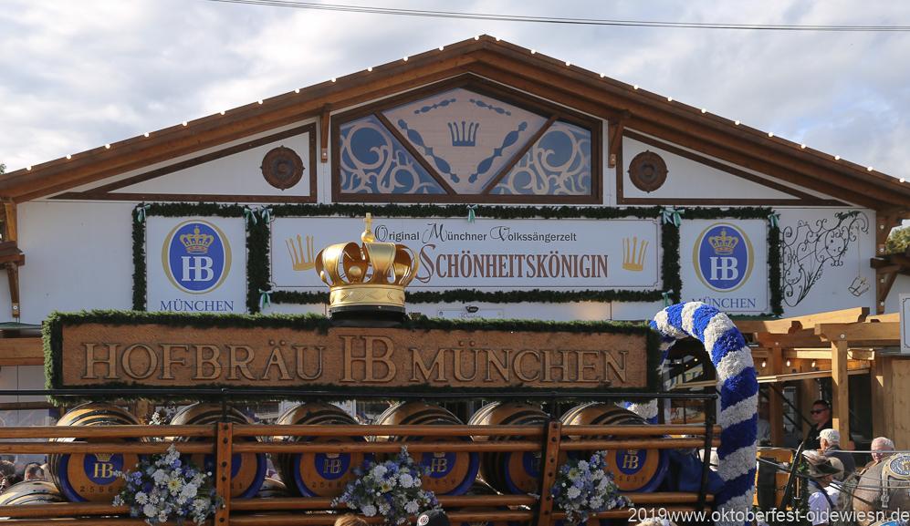 Tag 11  im Volkssängerzelt zur Schönheitskönigin auf der Oidn Wiesn in München 2019