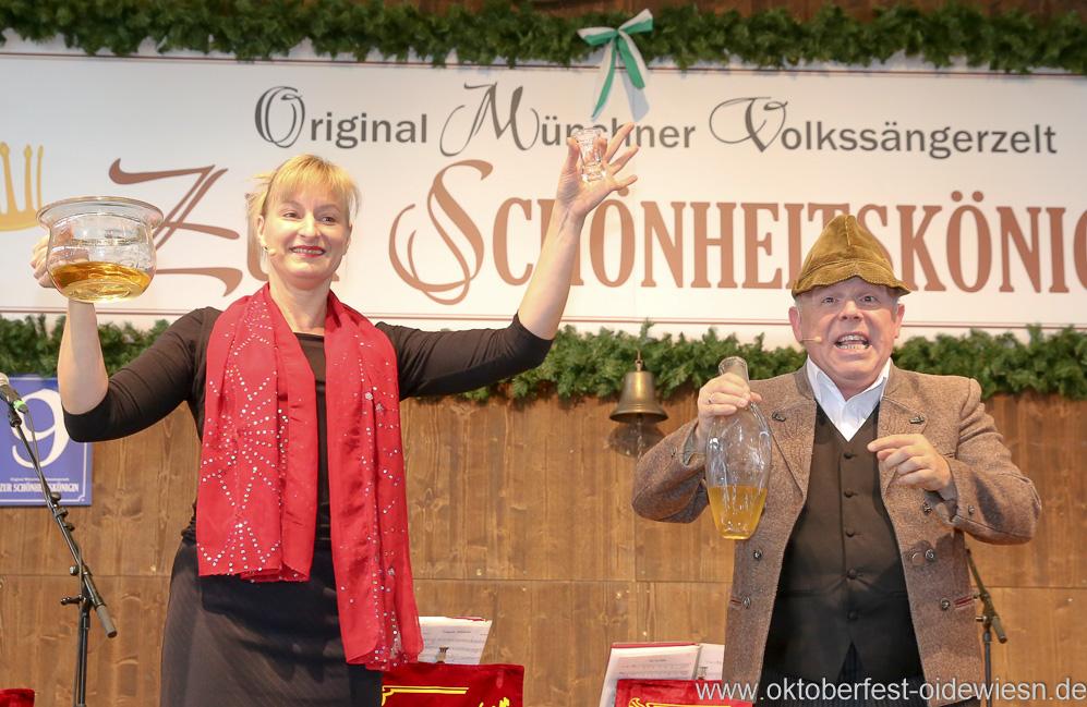 Bianca Bachmann und Jürgen Kirner, Schönheitskönigin 15. Tag auf der Oidn Wiesn am Oktoberfest in München 2018