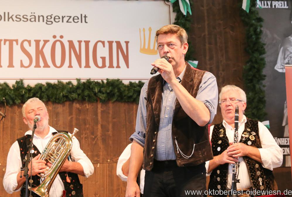 Peter Reichert, Schönheitskönigin 15. Tag auf der Oidn Wiesn am Oktoberfest in München 2018