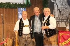 Tanngrindler Musikanten und Prof. Erich Rinner (Mitte), der 3. Tag in der Schönheitskönigin auf der Oidn Wiesn am Oktoberfest in München 2018