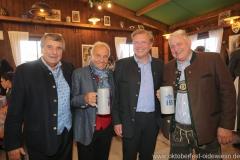 Peter Pongratz, Günter Steinberg, Michael Sperger, Christian Schottenhamel (von li. nach re.), Filserbuam in der Schönheitskönigin auf der Oidn Wiesn am Oktoberfest in München 2018