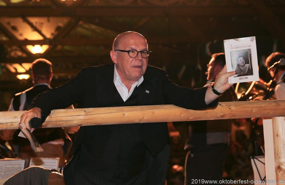 Jürgen Kirner, Tag 6 im Volkssängerzelt zur Schönheitskönigin auf der Oidn München 2019