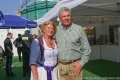 Elisabeth Polaczy und Dieter Reiter,  Dieter Reiter auf dem Teufelsrad am Oktoberfest in München 2018