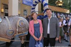 Gerdi Reichert und Michael Sperger, Wiesn Playmate im Park-Cafe in München 2021