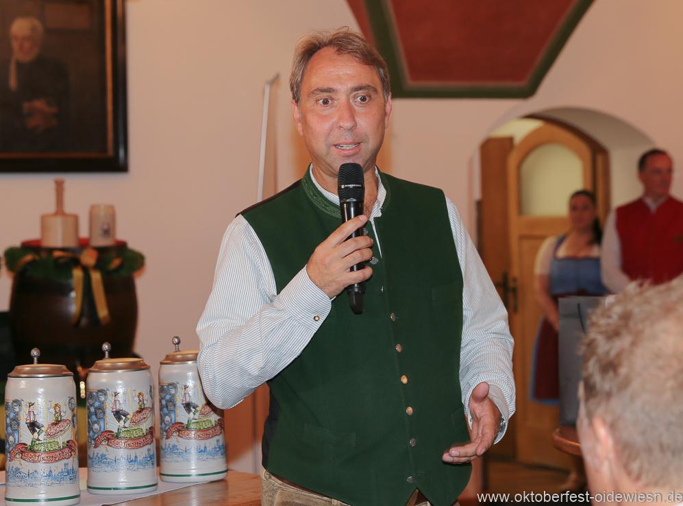 Werner Hochreiter, Wiesnbierprobe in der Ratstrinkstube im Rathaus in München 2018