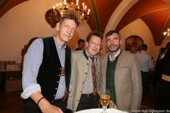 Peter Reichert, Thomas Vollmer, Martin Liebhäuser, Wiesnbierprobe in der Ratstrinkstube im Rathaus in München 2018