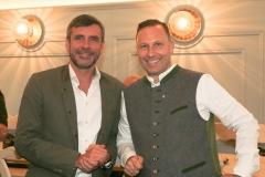 Martin Liebhäuser (li.) und Andreas Brunner, Wiesnbierprobe im Bad am Bavariaring  in München .2019