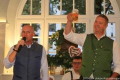 Rainer Kansy und Harald Stückle (re.), Wiesnbierprobe im Bad am Bavariaring  in München .2019