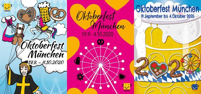 Oktoberfest Plakat 2020: Online abstimmen und Wiesntische gewinnen