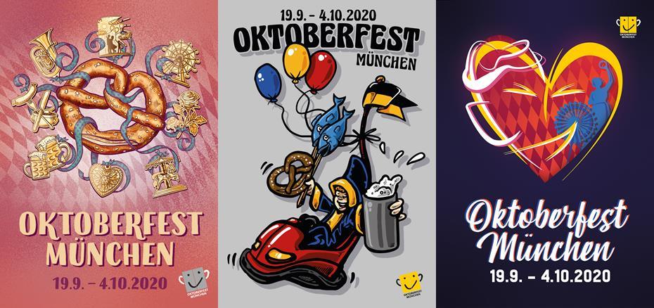 Siegerentwürfe Oktoberfest-Plakat 2020
