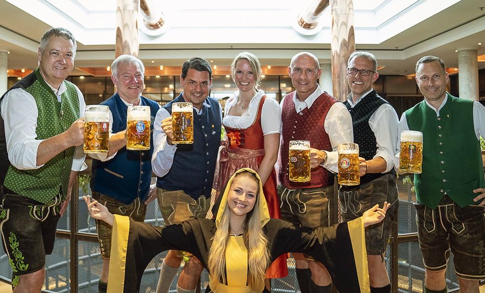 Wiesn-Bierprobe 2021 auf dem Nockherberg: Münchner Brauer stellen Oktoberfestbiere vor