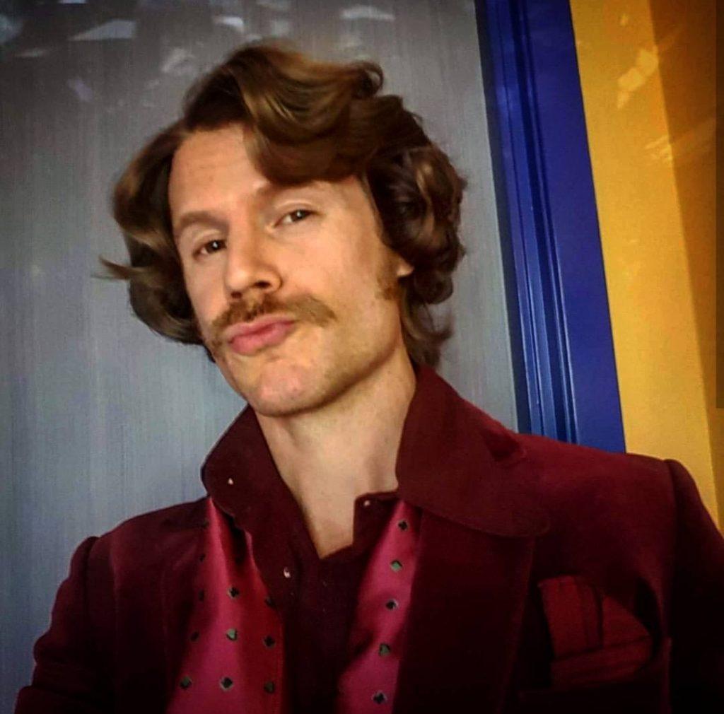 70's fashion actor from Borg vs McEnroe
