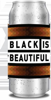 Bilde av en ølboks med etiketten Black is Beautiful