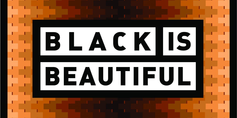 Den originale Black is Beautiful logoen.