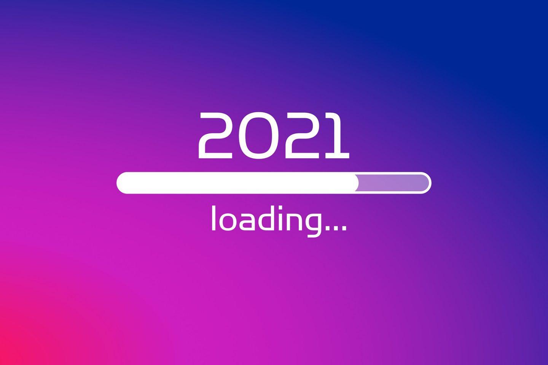 En loading-bar med teksten 2021 med på.