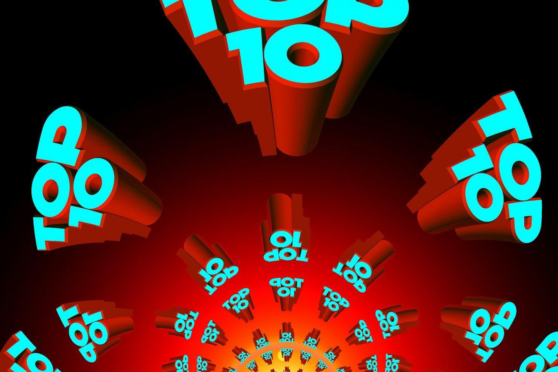 Teksten Top 10 skrevet flere ganger