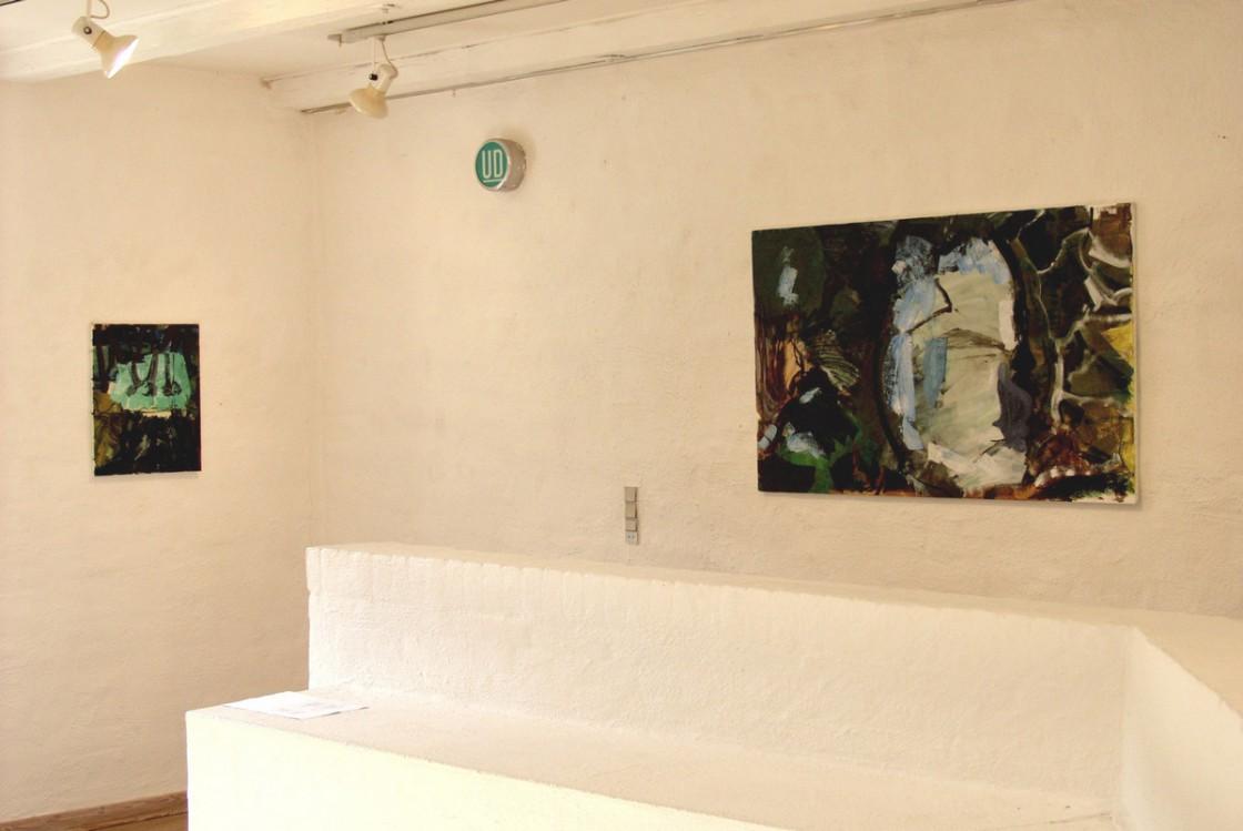 Malerier på 1. sal   fra venstre: AFSKED og HUBERT GOLTZIUS.