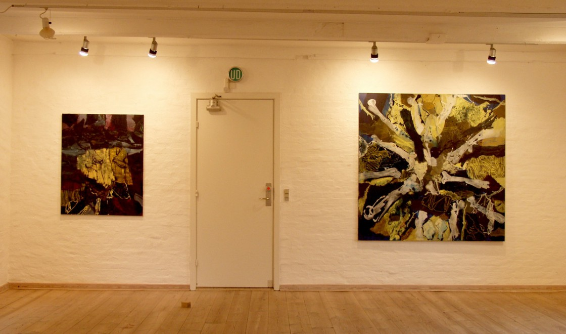 Painting on 1st floor | From left: NIGHTWALK and BATTLEFIELD.