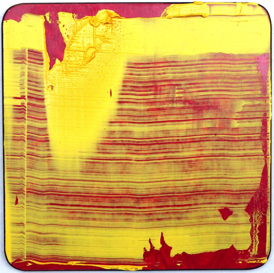 #1   Olie på smørebrædt   13x13 cm   2011