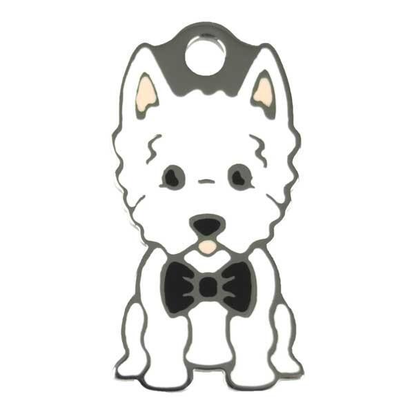 Ollipet West highland white terrier charm m. nøglering Image