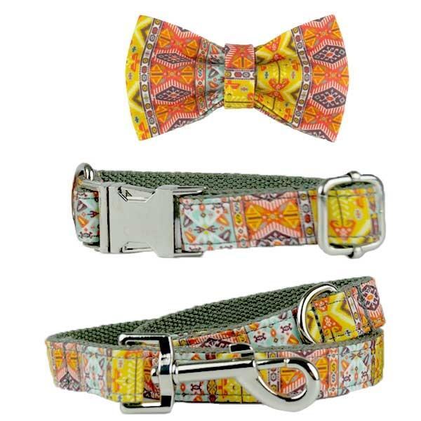 Ollipet CitySeen Halsbånd, line og sløjfesæt Indian Orange Image