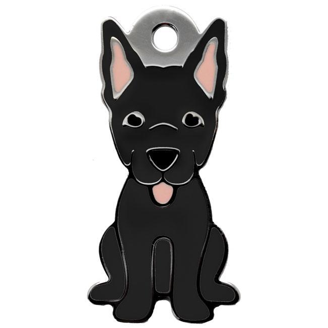 Ollipet sort schæferhunde charm m. nøglering Image