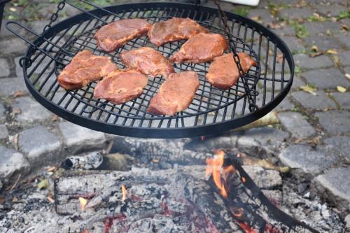 op de grill!
