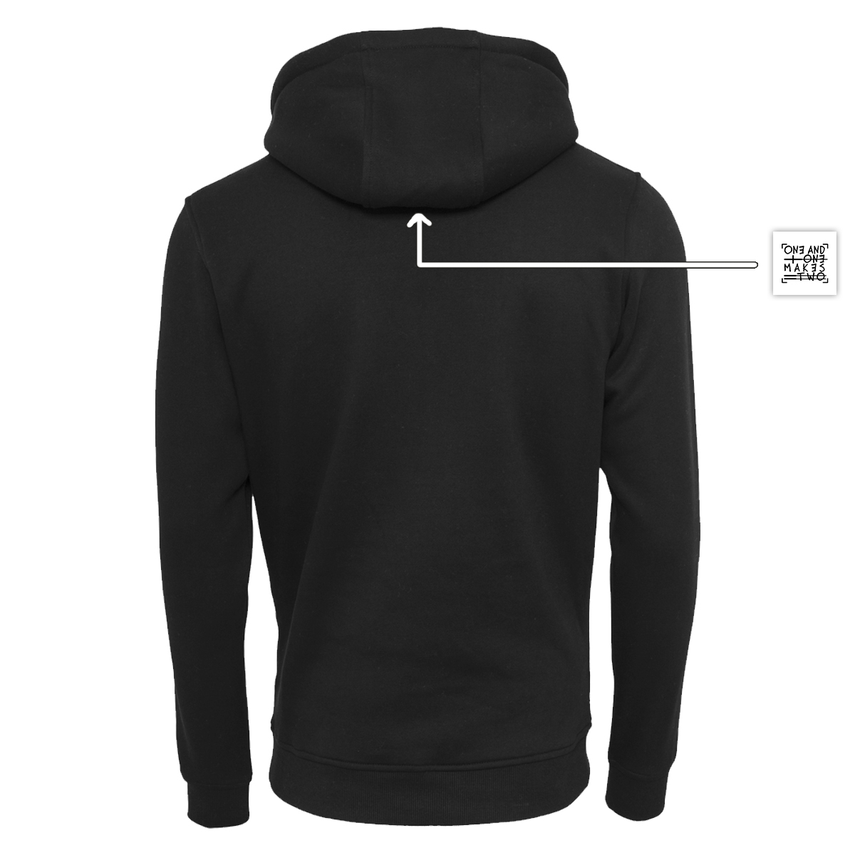 ONE AND ONE MAKES TWO - hoodie back - Caring Community