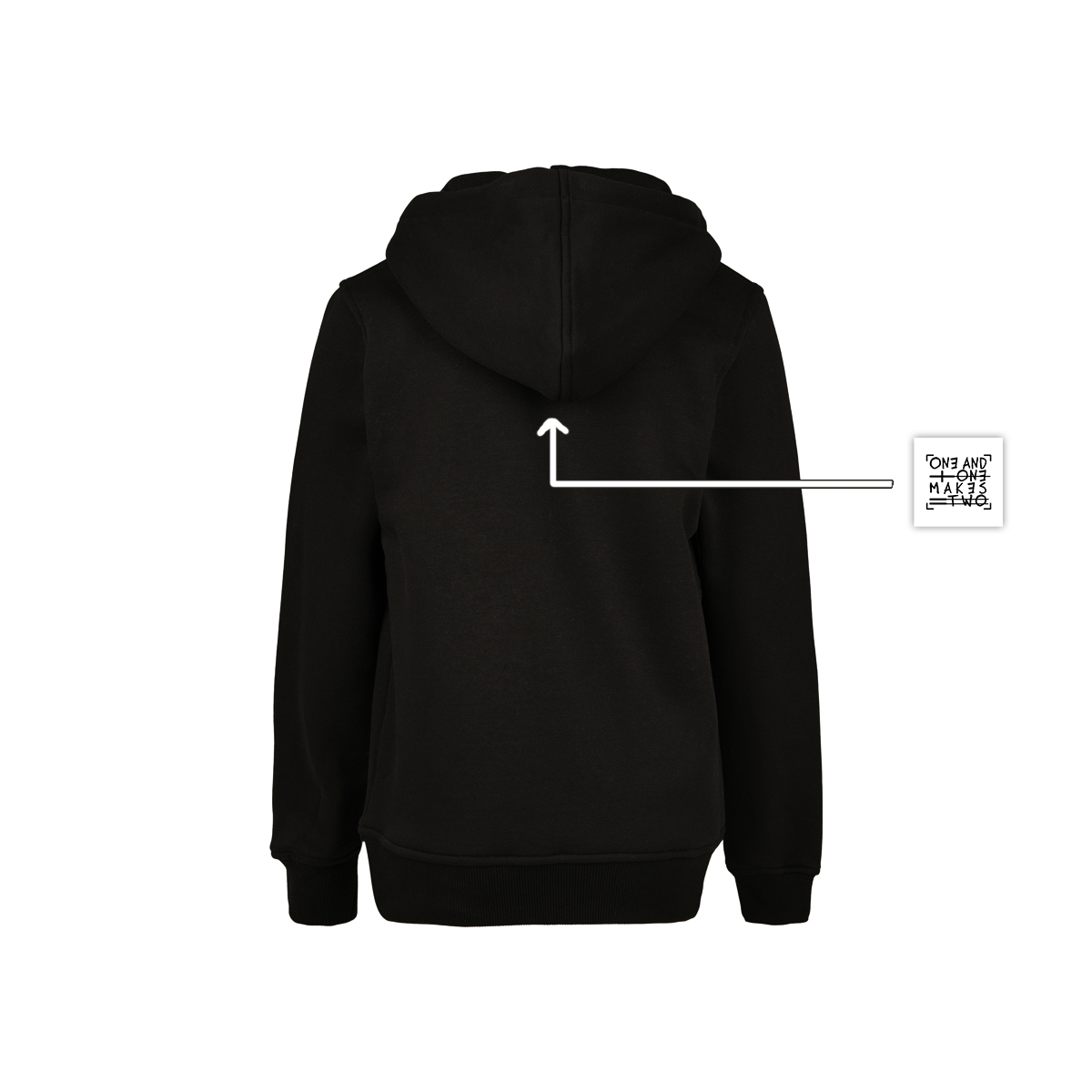 ONE AND ONE MAKES TWO - kids hoodie back - Caring Community