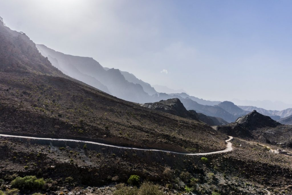Hajar Mountains in Oman One Second