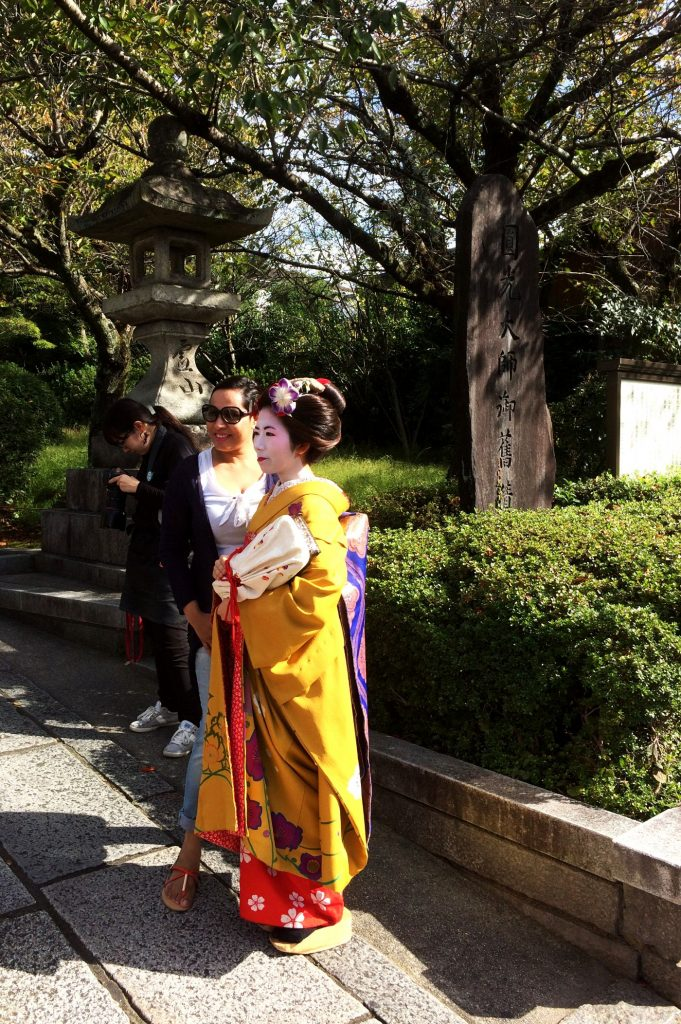Genuine Maiko in the streets of Kyoto
