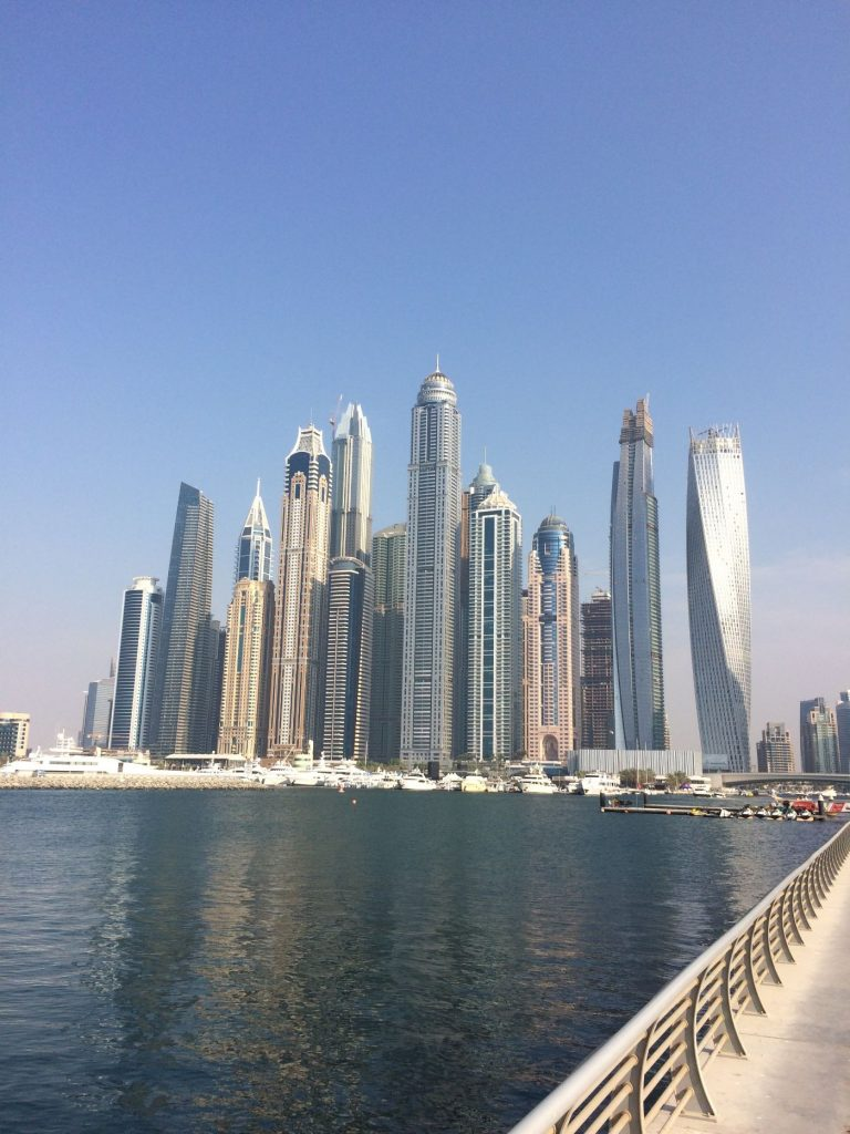 Dubai Marina UAE City Skyline