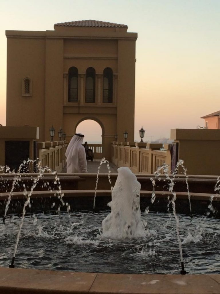 Fountain with local in Dubai UAE