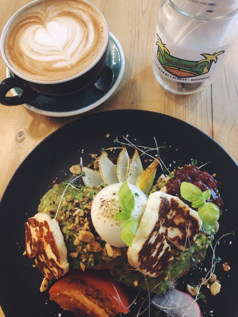 One Second - Halloumi salad at Le Melbourne Café